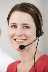 Portrait of telephone operator.