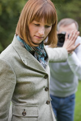 woman and photographer