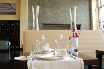Restaurant in luxury hotel, UAE