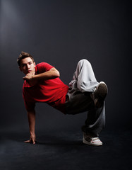 cool breakdancer in pose