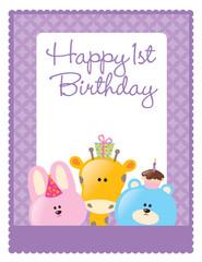 8.5x11 birthday flyer/poster template