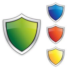 Logo or Button Icon Vector Shields