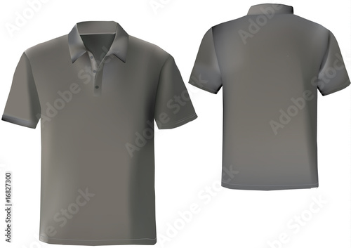 Black Polo Shirt Design Template With Front And Back Mesh