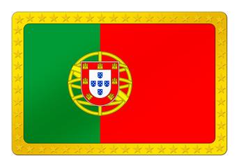 3D-Button - Portugisiesche Flagge