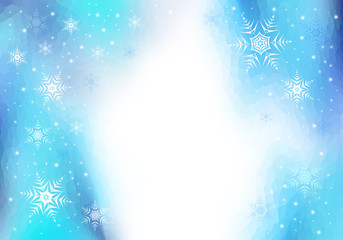 Christmas background and snowflake