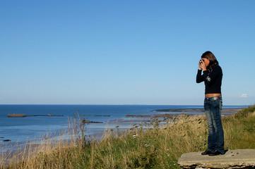 Fotografando il mare - Arromanches - Normandia - Francia