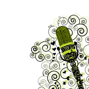 Microphone Flyer/Background