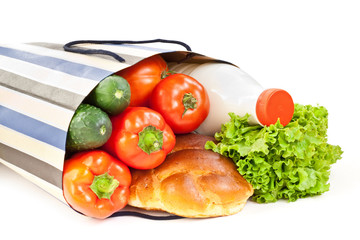 food with shopping bag