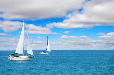 sail boating on blue water