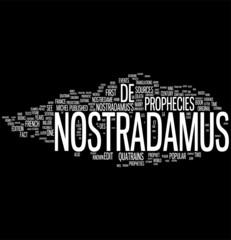 Nostradamus word cloud