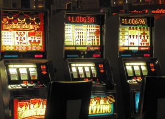 Foto op Canvas Las Vegas modern slot machine at las vegas casino