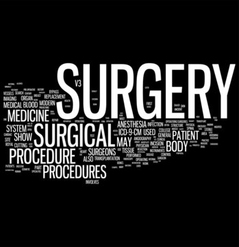 Surgery word cloud