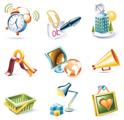 Vector cartoon style icon set. Part 9
