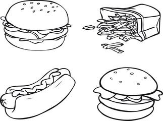 Hamburger, Pommes, Hotdog, Fast Food