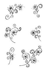 Blumen, Ranken, Verzierung, Design, Blüten