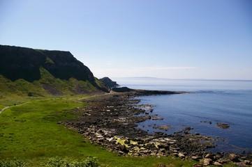 Antrim coastline with Giant's Causeway