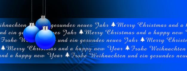 Weihnachtskarte Hintergrund - Weihnachtskugel Christbaumschmuck
