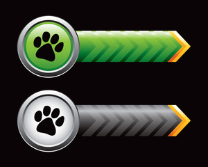Pawprints on arrow banners
