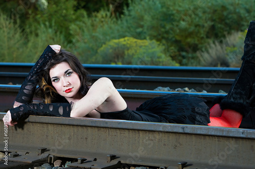 Sexy girls in train — photo 5