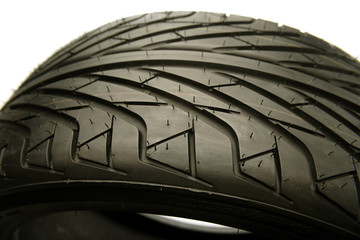 Closeup of tire