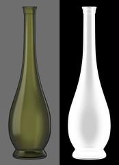 Green Glass Wine Bottle