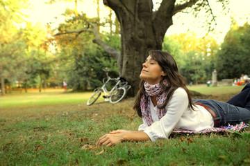 Fotobehang Ontspanning bike