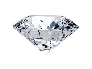 White diamond side view