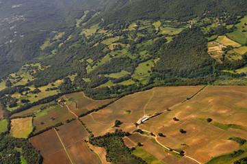 champs vue du ciel,Corse