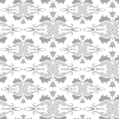 Seamless black and white ornament pattern