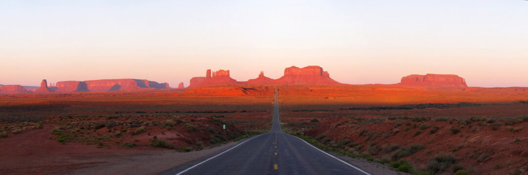 Monument Valley at morning during sunrise