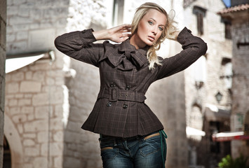 Fashion style photo of a young woman