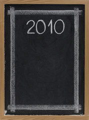2010 - white chalk on blackboard