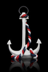 Anchor Isolated over black