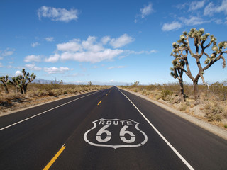 Photo on textile frame Route 66 Route 66 Mojave Desert