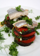 Herring with vegetables