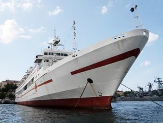 Russia's military Medical ship at sea