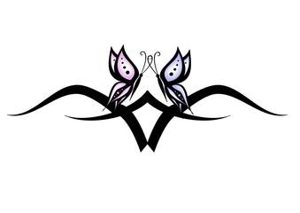 coppia farfalle tatoo