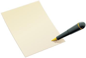 Signature d'un document (détouré)