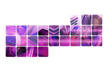 Motif numerique violet