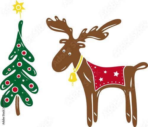 elch weihnachten tannenbaum weihnachtsbaum stockfotos. Black Bedroom Furniture Sets. Home Design Ideas