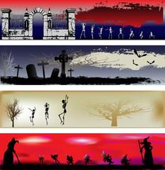Halloween Web Banner Templates