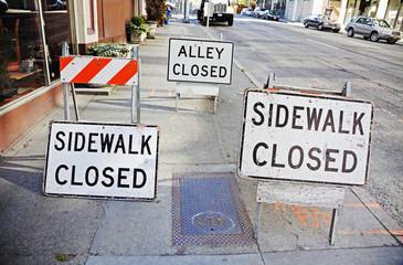 signs of sidewalk