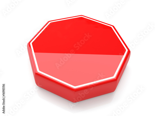 Blank Stop Sign 3d Render