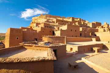 Stores photo Maroc houses in the desert