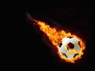 Fototapeta piłka w ogniu