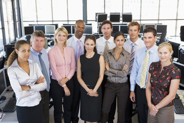 Group Photo Of Stock Traders Team