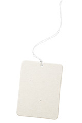 Blank cardboard tag isolated over white with clipping path