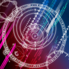 abstract esoteric and astronomic wallpaper / background