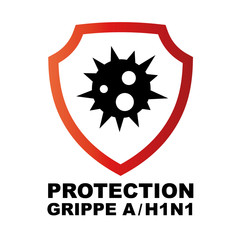 Logo protection grippe A/H1N1