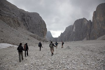 Mountains and people, Dolomites